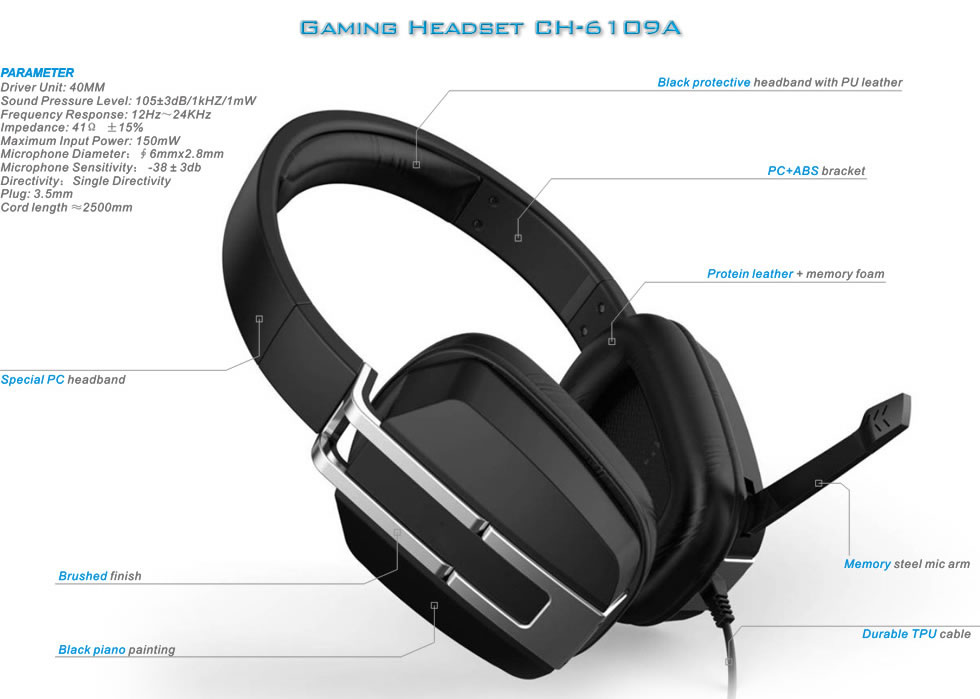 Gaming Headset CH-6109A